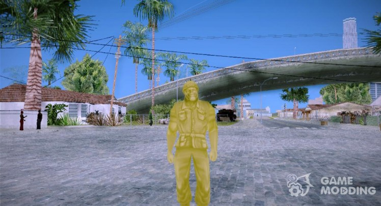 Yellow Solider from Army Men Serges Heroes 2