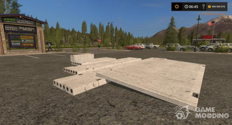 Concrete slab for Farming Simulator 2017