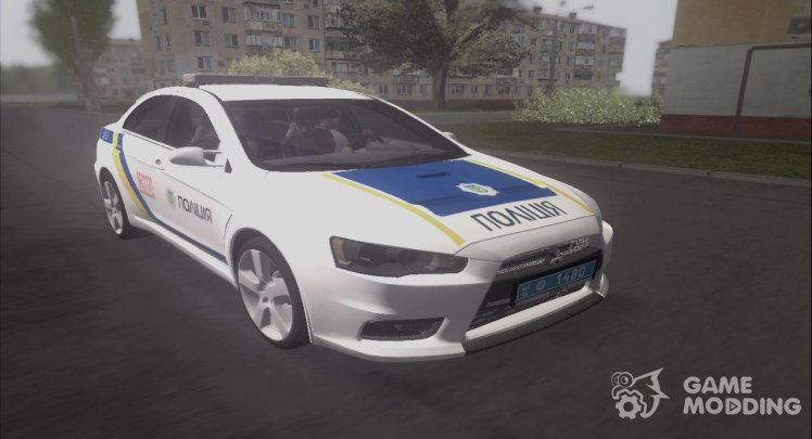 Mitsubishi Lancer Evolution Police of Ukraine