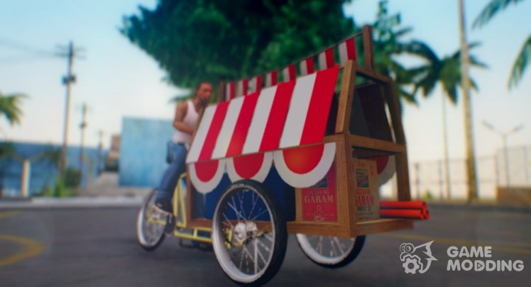 Indonesian Flag Seller Cart