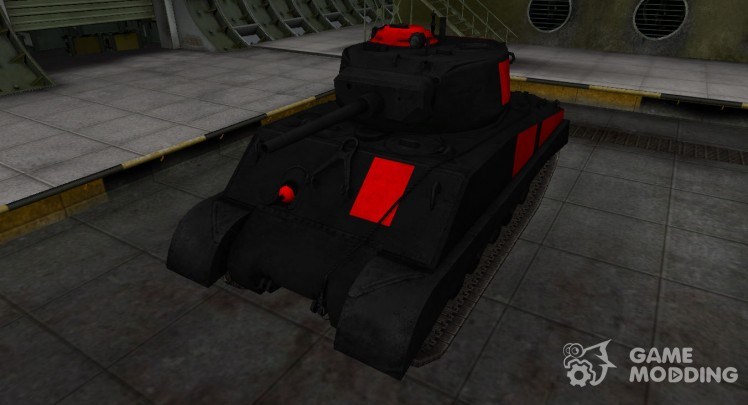 Black and red zone breakthrough M4A3E2 Sherman Jumbo