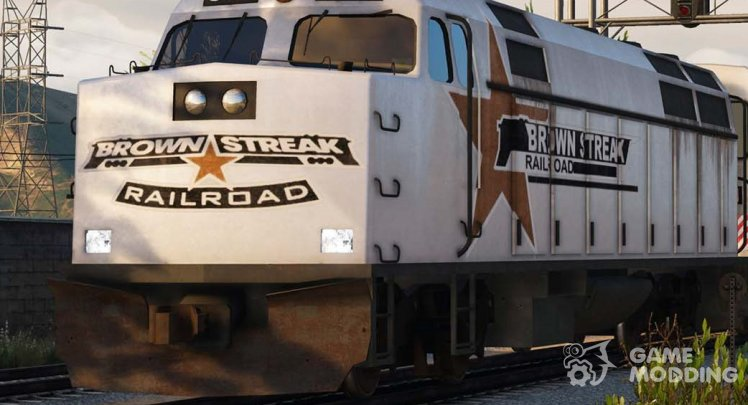 Brown Streak Engine (Locomotive)