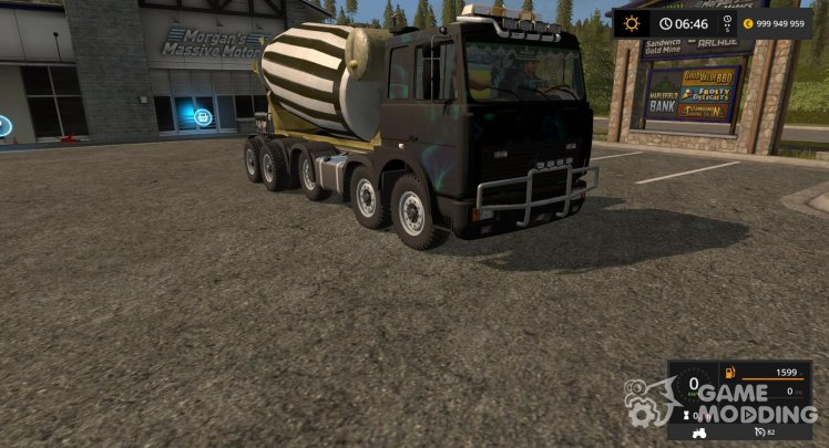 Concrete mixer MAZ for Farming Simulator 2017