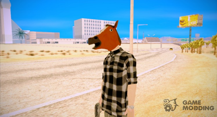 Horse mask ped