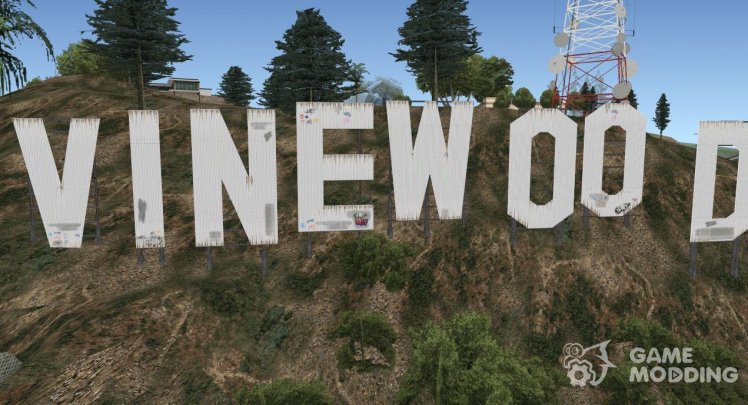 GTA V Vinewood Sign and Tower