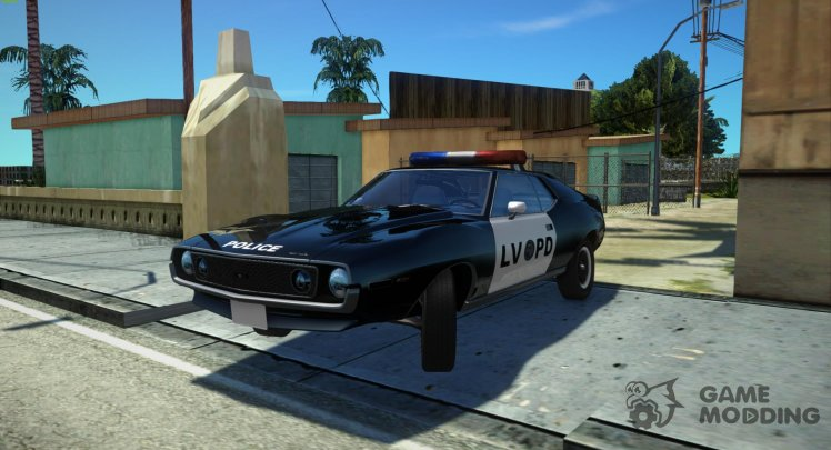 AMC Javelin AMX 401 1971 Police LVPD Stock for GTA San Andreas