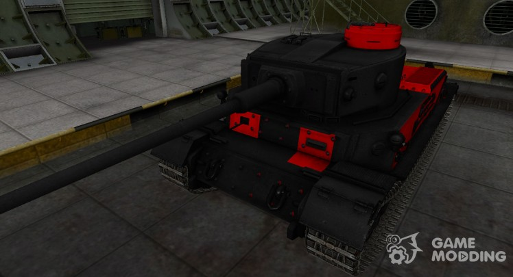 Черно-красные зоны пробития PzKpfw VI Tiger (P)