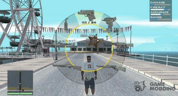 HUD for GTA San Andreas