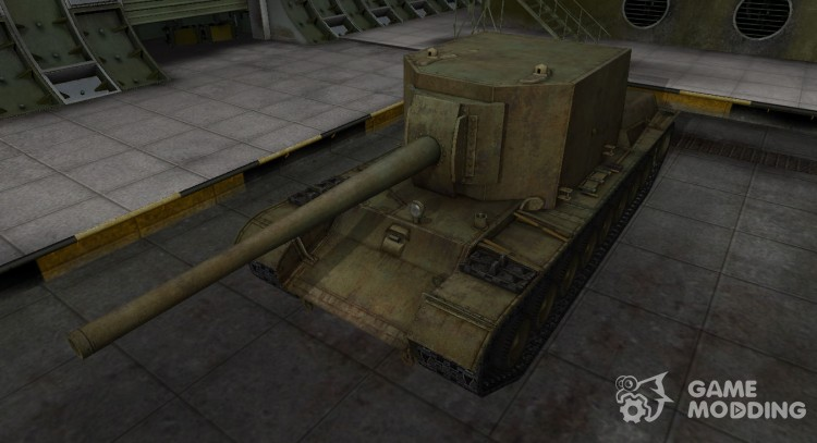Skin for Su-100 y in rasskraske 4BO for World Of Tanks