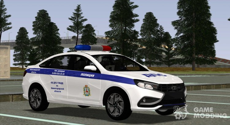 Lada Vesta Sport traffic police for GTA San Andreas