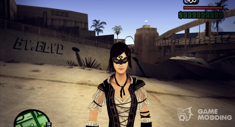 Realism portrait painting Courtesan, Elite Costume From Assassin's Creed BrotherHood for GTA San Andreas