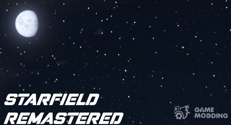 Starfield Remastered (Starfield and Moon Replacement) 2.0 for GTA 5