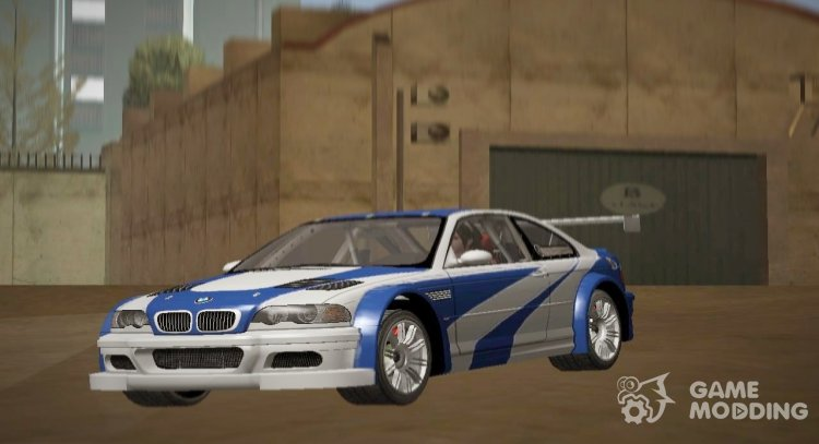 BMW M3 GTR From NFS MW (Original MW Version) for GTA San Andreas