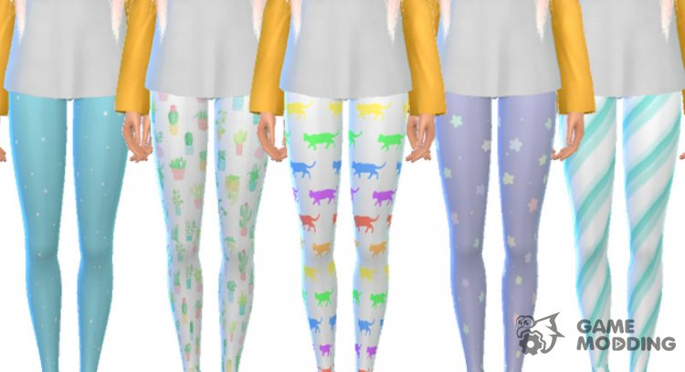 Pastel Themed Leggings for Sims 4