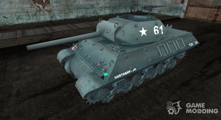 Шкурка для M10 Wolverine English для World Of Tanks