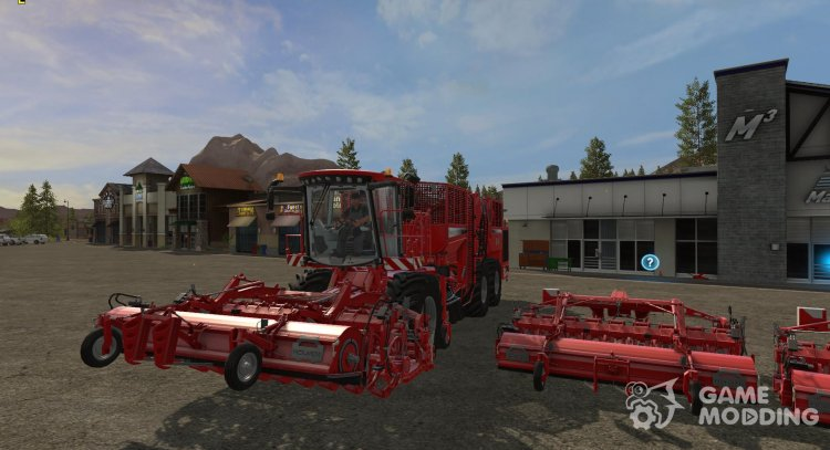 Harvester for harvesting onions, potatoes and carrots for Farming Simulator 2017