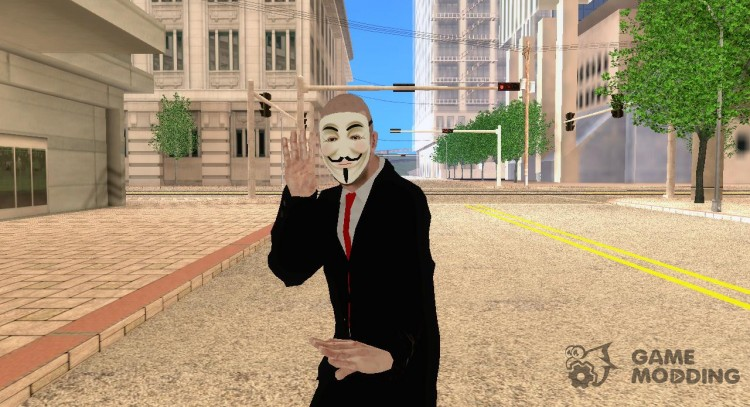 Anonymous skin v. 3 for GTA San Andreas