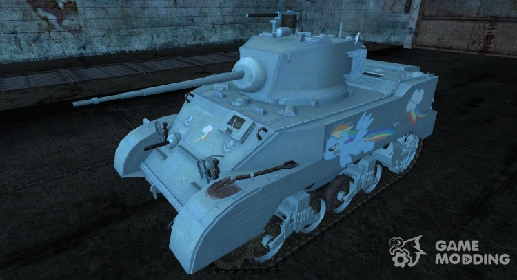 "Шкурка для M5 Stuart ""Rainbow Dash"" для World Of Tanks"