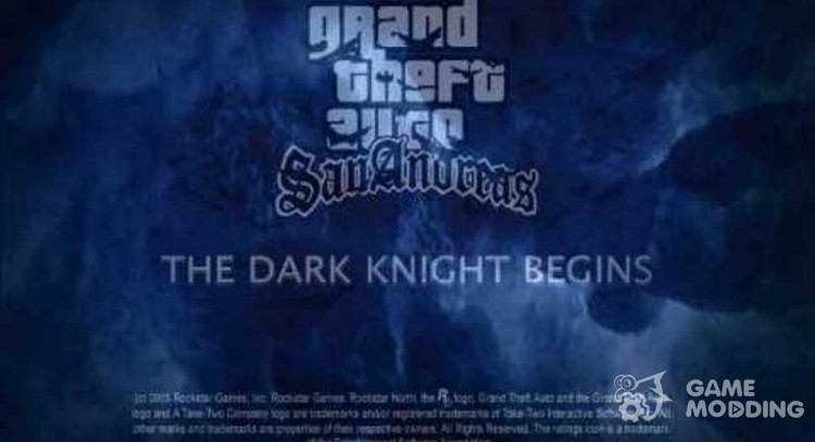 The Dark Knight loading screens for GTA San Andreas