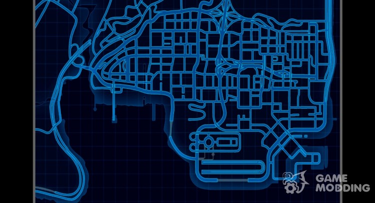 Map In The Style Of Need For Speed World For Gta San Andreas