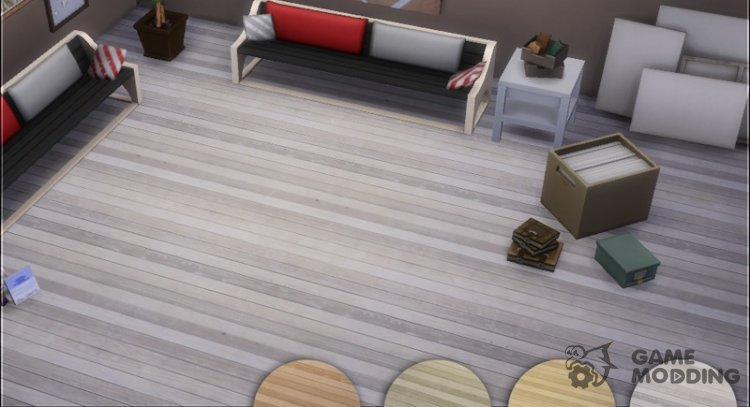 Modern Wood Plank Set 1 for Sims 4