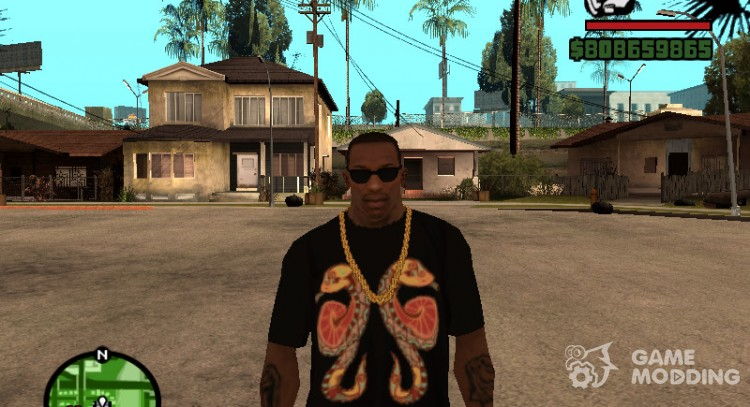T-shirt with sign of the Zodiac Gemini for GTA San Andreas