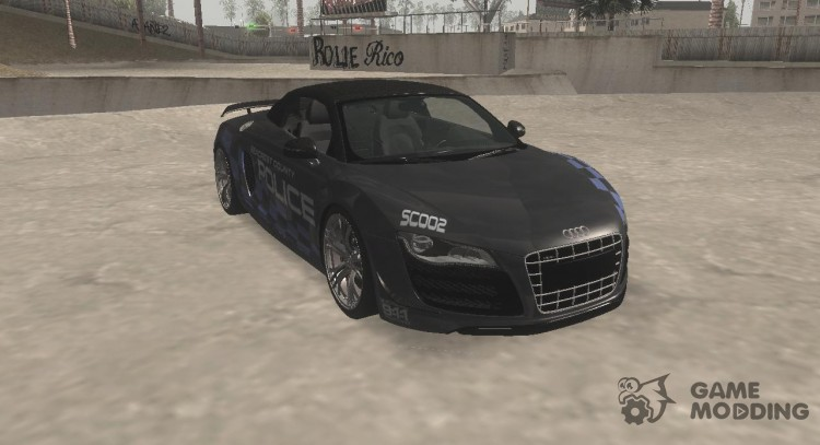 Audi R8 High Speed Police для GTA San Andreas