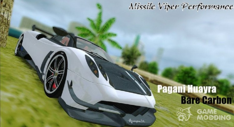 Pagani Huayra Bare Carbon for GTA Vice City