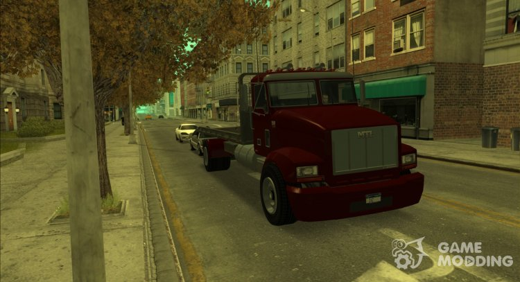 GTA V MTL Flatbed (VehFuncs Style) for GTA San Andreas