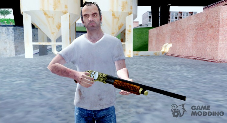 Pump Shotgun Halloween для GTA San Andreas