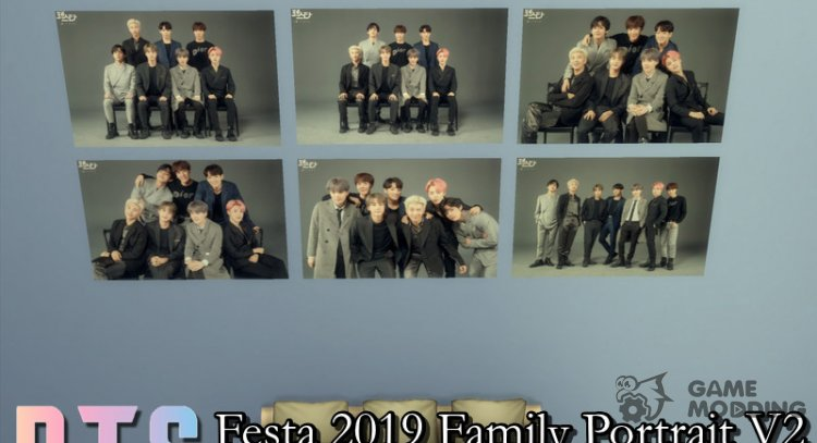 BTS Family Portrait 2 Posters for Sims 4