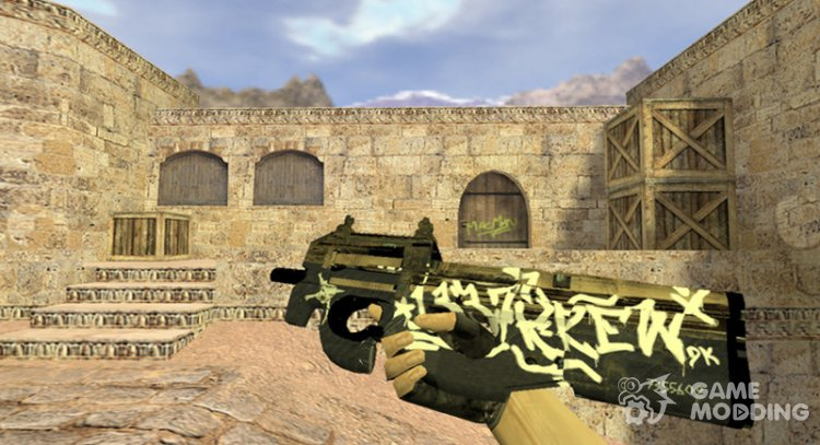 P90 Desert rebel for Counter Strike 1.6