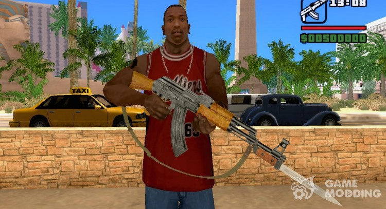 AK-47 with bayonet-knife for GTA San Andreas