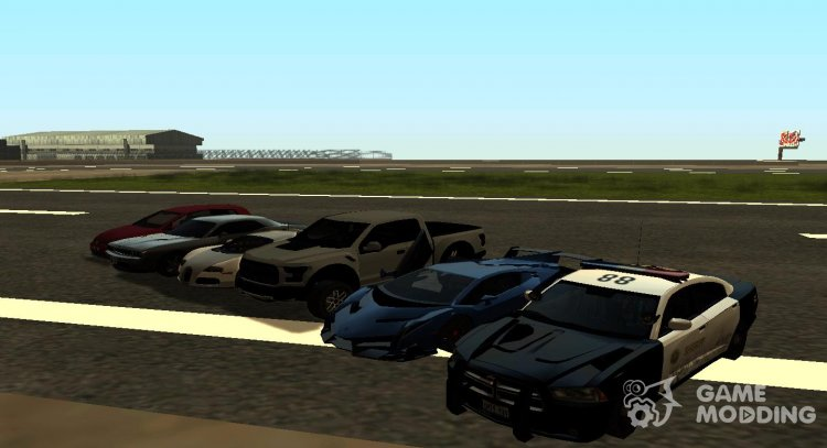 PACK RACING AND SPORTS CARS IN THE STYLE OF SA for GTA San Andreas
