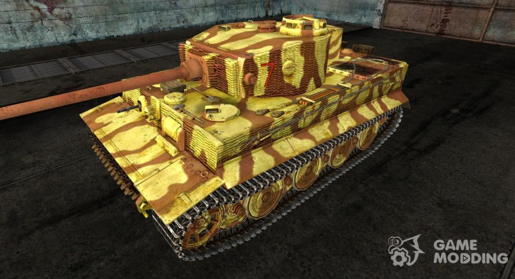 Skin for the Panzer VI Tiger 506 Germany 1944 for World Of Tanks