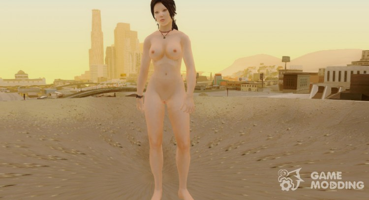 Lara Xmas nude from Tomb Raider 2013 для GTA San Andreas