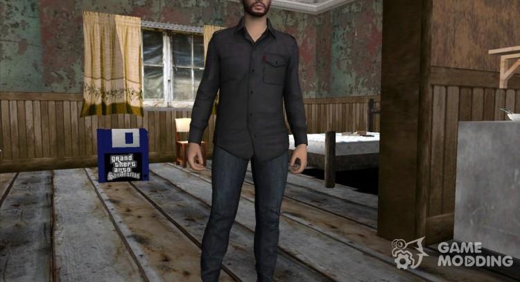 Skin HD GTA V Online in the CAP LS for GTA San Andreas