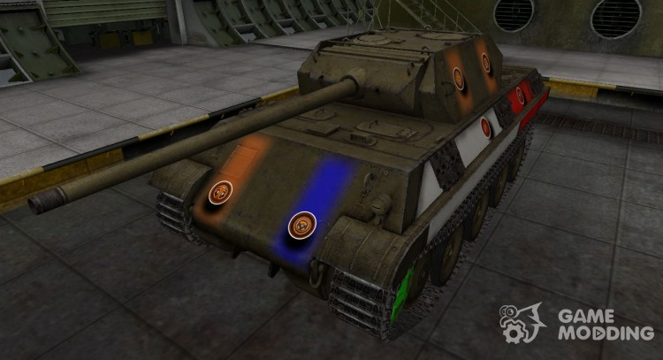 High-quality skins for Panther/M10 for World Of Tanks