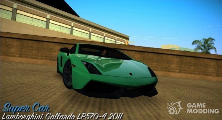 Lamborghini Gallardo LP570-4 2011 for GTA Vice City