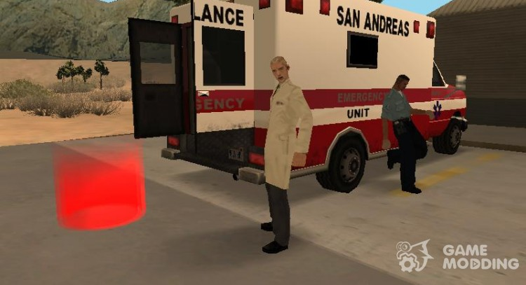 Be a blood donor for GTA San Andreas
