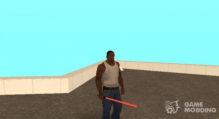 Red lightsaber for GTA San Andreas