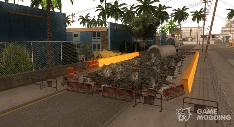 Repair work on Grove Street