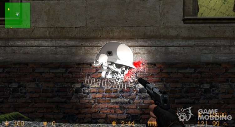 Spray Headshot for Counter-Strike Source