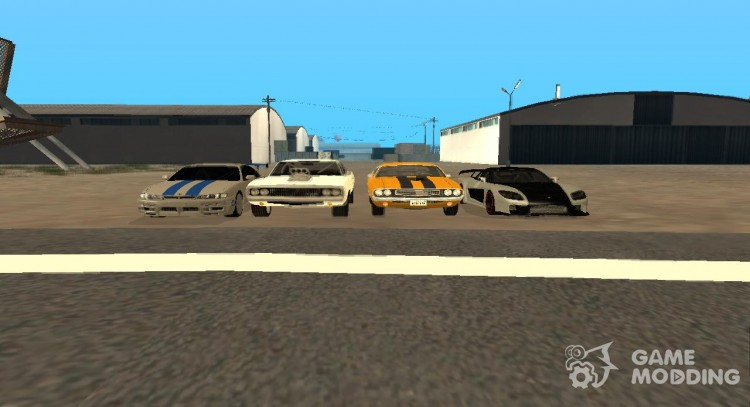 Pak machines from the movie the fast and the furious (By StuartLittle) for GTA San Andreas