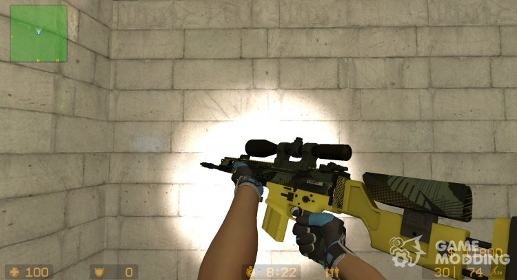 SCAR-20 Jungle Slipstream for Counter-Strike Source