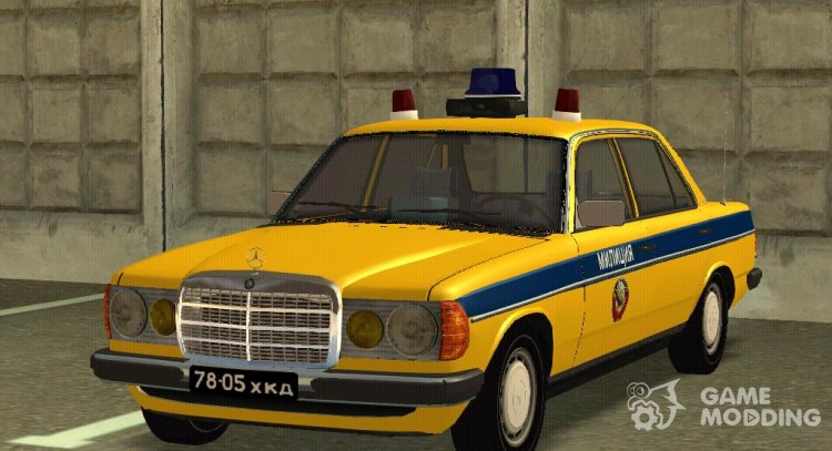Mercedes-Benz W123-240D Police of the USSR for GTA San Andreas
