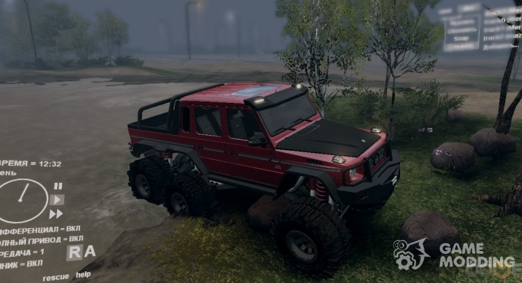 Mercedes-Benz G65 6 x 6 for Spintires DEMO 2013