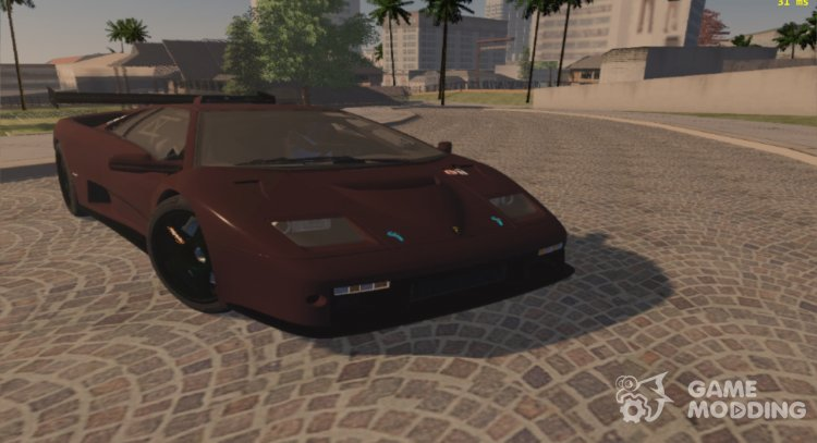 1999 Lamborghini Diablo Gt R For Gta San Andreas