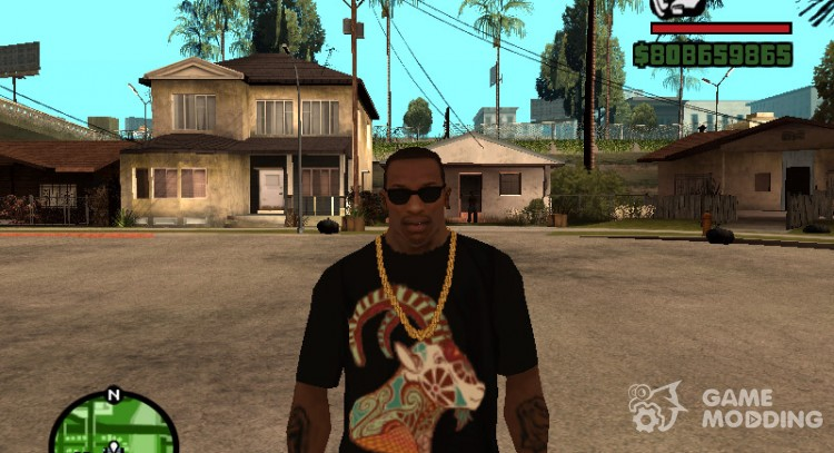 T-shirt with sign of the Zodiac Capricorn for GTA San Andreas