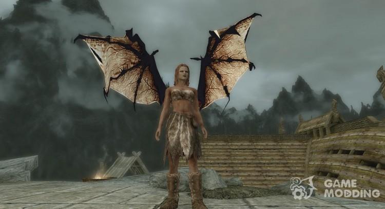 Wearable Dragon Wings for TES V: Skyrim